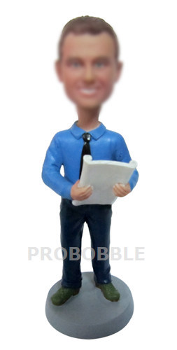 Custom bobble heads businessman