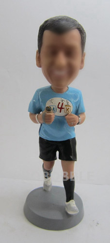 Custom Runner Bobblehead - Man Running