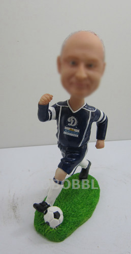 Running Football Player Bobblehead