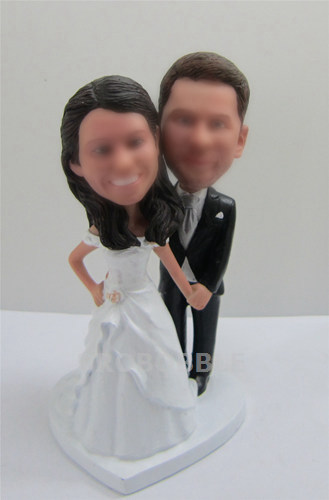 Wedding bobble heads cake topper
