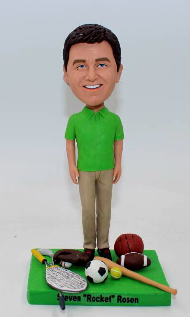 Personalized bobblehead doll-sport themed