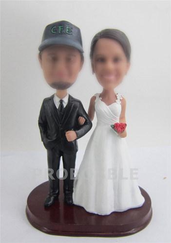 country wedding bobbleheads cake topper 2221 custom bobblehead dolls and. Black Bedroom Furniture Sets. Home Design Ideas