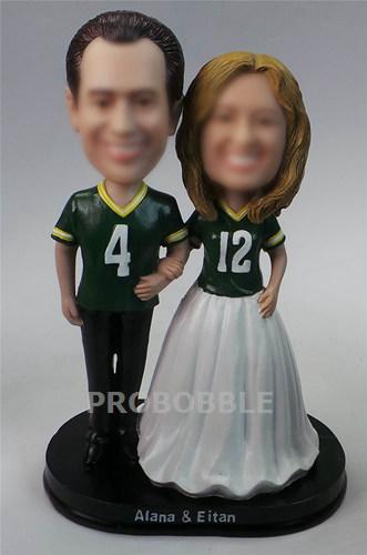 sports theme wedding cake topper bobbleheads football 2857 custom bobblehead dolls. Black Bedroom Furniture Sets. Home Design Ideas