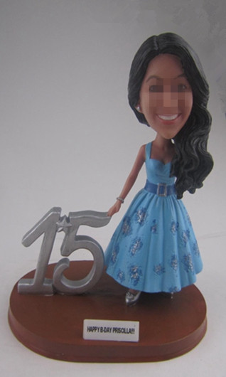 Personalized Bobbleheads gift for 15th birthday