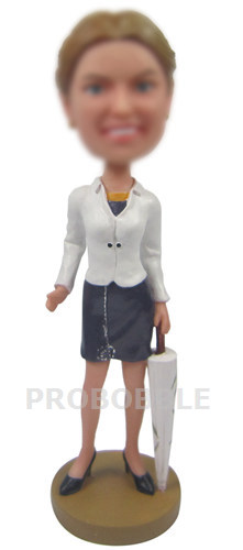 Office Lady Personalized Bobbleheads