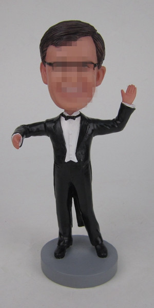 Custom music conductor bobbleheads