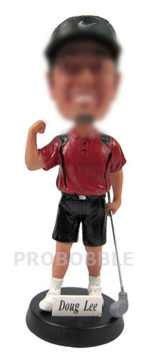 Stylish Golfer Bobbleheads doll