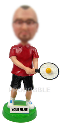 Tennis player bobbleheads