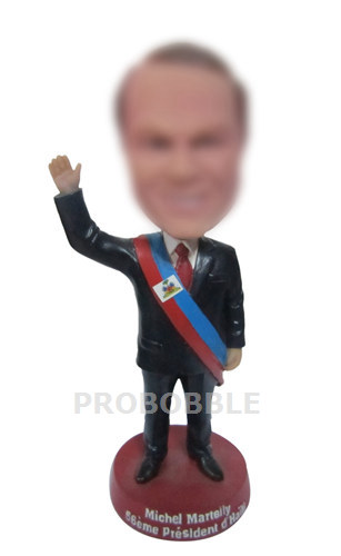 Personalized Bobbleheads Waving Politician
