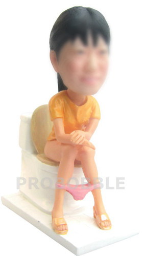 Personalized Bobbleheads Lady on toilet