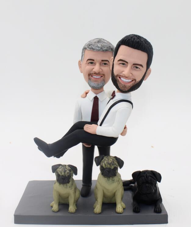 Gay Wedding Cake Toppers Figures E1032 149 00 Custom